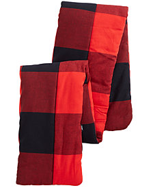WeSC Men's Lawa Plaid Padded Scarf