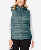 f98afd2cf86c1 32 Degrees Plus Size Hooded Packable Down Vest