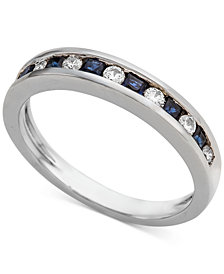 Sapphire (1/3 ct. t.w.) & Diamond (1/5 ct. t.w.) Band in 14k White Gold