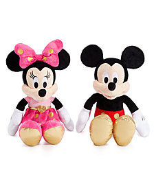 Disney Minnie Mouse & Mickey Mouse Plush Dolls