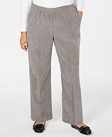 Plus Size Classics Corduroy Pull-On Pants