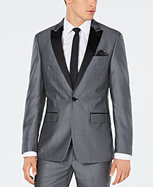 Tallia Men's Slim-Fit Silver Medallion Jacquard Suit Jacket