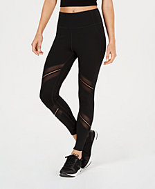 Calvin Klein Performance High-Waist Sheer-Inset Leggings
