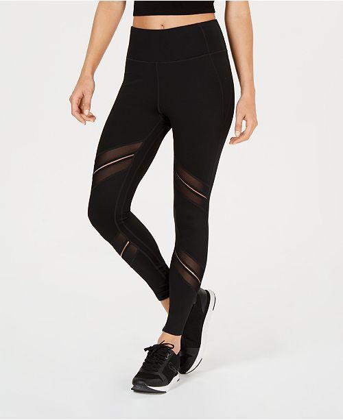 a85b4721af5a7 Calvin Klein High-Waist Sheer-Inset Leggings & Reviews - Pants ...