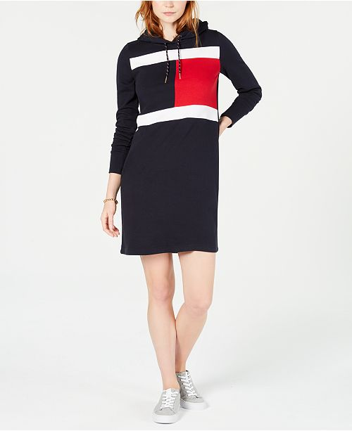 42f420ce943 Tommy Hilfiger Sweatshirt Dress, Created for Macy's & Reviews ...