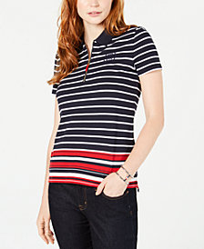 Tommy Hilfiger Striped Cotton Zip-Front Shirt, Created for Macy's