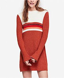 Free People Colorblocked Bell-Sleeve Sweater Dress