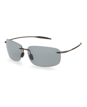 bc862dd8e09 Maui Jim  Breakwall - Polarizedplus2  63Mm Sunglasses - Black Gloss In  Black Grey