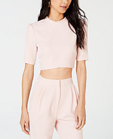 LEYDEN Mock-Neck Crop Top