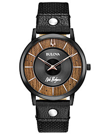 Bulova Men's Nile Rodgers Le Freak Black Cordura Nylon Strap Watch 40mm - A Special Edition