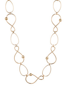 "Trina Turk 36"" Twisted Link Station Necklace"