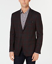 1432683dca Tallia Men s Slim-Fit Charcoal Plaid Wool Sport Coat