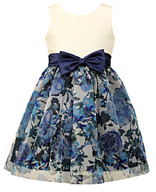 Jayne Copeland Little Girls Floral-Print Mesh Party Dress
