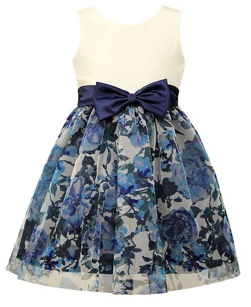 80e1f1c4fb5 Jayne Copeland Little Girls Floral-Print Mesh Party Dress   Reviews ...