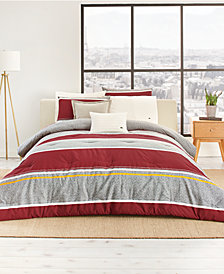 CLOSEOUT! Lacoste Mendi Reversible 190-Thread Count 3-Pc. King Comforter Set, Created for Macy's