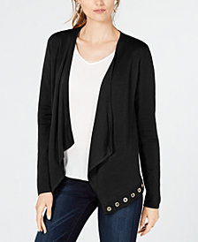 I.N.C. Grommet-Trim Cardigan, Created for Macy's