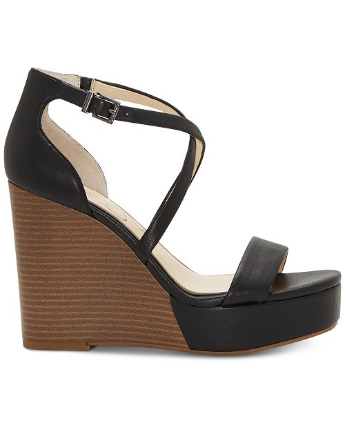 5139b3d9ccd Jessica Simpson Samira Strappy Wedge Sandals   Reviews - Sandals ...