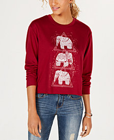 Rebellious One Juniors' Elephant Graphic-Print T-Shirt