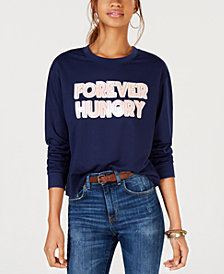 Rebellious One Juniors' Forever Hungry Graphic-Print T-Shirt