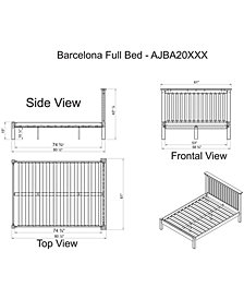 Barcelona Full Bed with Storage Drawers