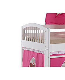 Addison White Junior Loft Bed with a Playhouse