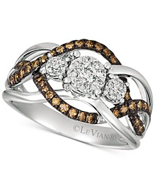 Chocolatier Diamond Ring (3/8 ct. t.w.) 	in 14k Rose Gold (Also Available in Two-Tone White & Yellow Gold or White Gold)