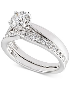 X3 Certified Diamond Bridal Set (1 ct. t.w.) in 18k White Gold, Created for Macy's