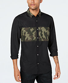 INC Men's Camo Mesh Shirt, Created for Macy's