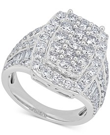 Diamond (3-1/3 ct. t.w.) Cluster Ring in 14k White Gold