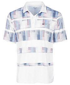 Attack Life by Greg Norman Men's Stanton Pixel Stripe Performance Polo, Created for Macy's