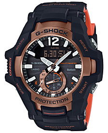 G-Shock Men's Solar Analog-Digital Gravity Master Black Resin Strap Watch 53.8mm