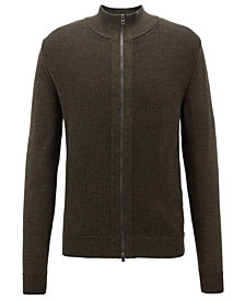 BOSS Men's Regular/Classic-Fit Merino Wool Cardigan
