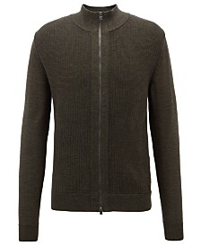 BOSS Men's Regular/Classic-Fit Merino Wool Cardigan