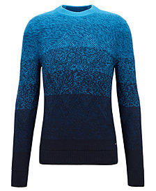 BOSS Men's Aran-Knit Dégradé Sweater
