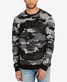Buffalo David Bitton Men's FAOP Camouflage Appliqué Sweatshirt