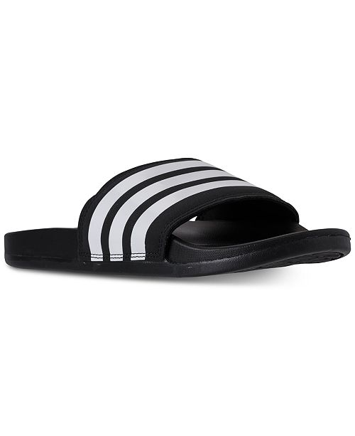 best service 8dd4b 7d58f ... adidas Men s Adilette Comfort Slide Sandals from Finish ...