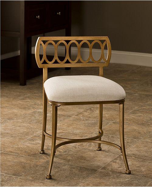 Stupendous Canal Street Vanity Stool Creativecarmelina Interior Chair Design Creativecarmelinacom