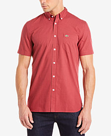 Lacoste Men's Classic-Fit Mini-Check Poplin Shirt