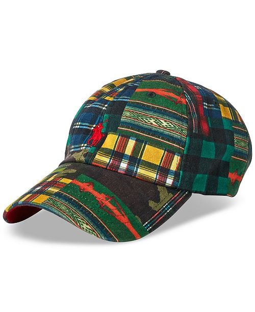 0fa6c7b2b50 Polo Ralph Lauren Men s Patchwork Baseball Cap  Polo Ralph Lauren Men s  Patchwork Baseball ...