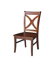 Salerno Chair, Wood Seat, Set of 2