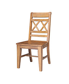 Canyon Double X- Back Chair, Set of 2