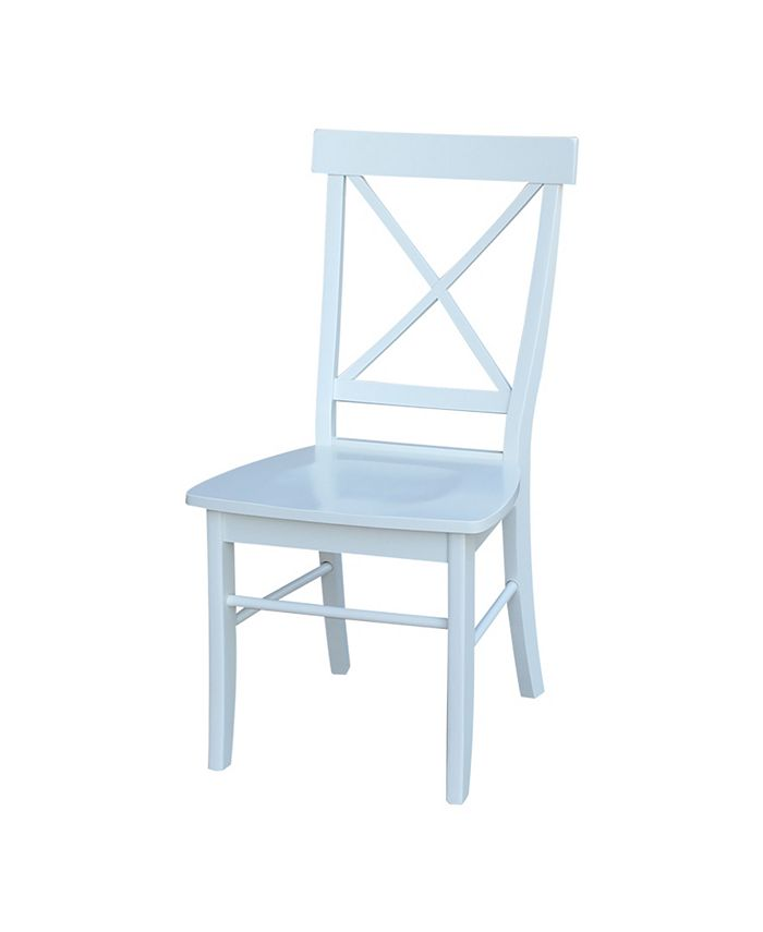 International Concepts - X-Back Chair - With Solid Wood Seat , Set of 2
