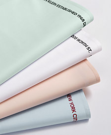 Calvin Klein Wash Label 1968 Cotton Percale 270-Thread Count Sheet Set Collection