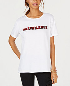 Carbon Copy Embellished Unavailable Graphic T-Shirt