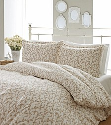 Full/Queen Victoria Taupe Duvet Set