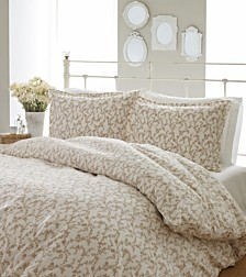 Laura Ashley Full/Queen Victoria Taupe Duvet Set