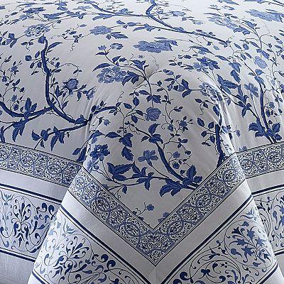 Laura Ashley Full Charlotte China Blue Comforter Set Comforters
