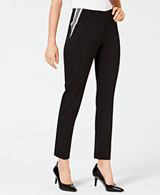 Alfani Stripe-Inset Slim Pant, Created for Macy's