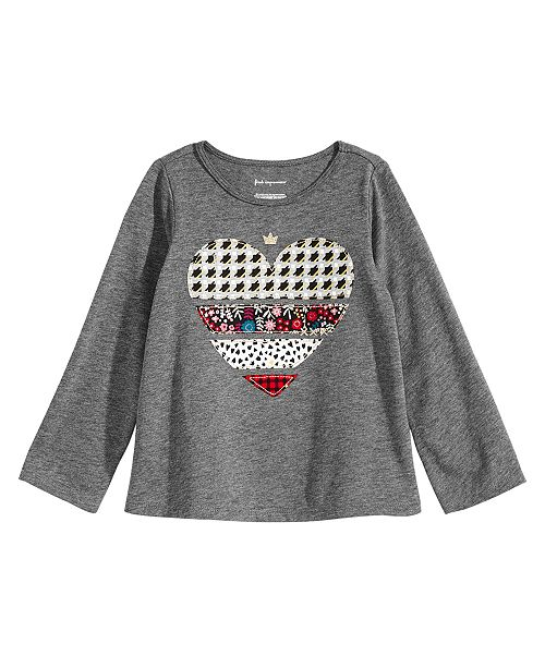 9f2314401b2733 First Impressions Baby Girls Heart-Print T-Shirt, Created for Macy's ...