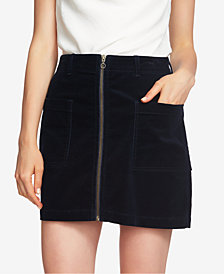 1. STATE Zip-Front Mini Skirt